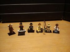 Lego lot de 6 minifigures (collectable minifigures)