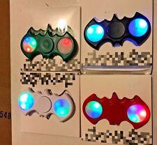 4x LED Batman Fidget Spinner Flashing red Fidget Spinner Toys Decompression