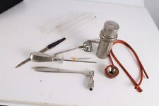 Antique Authentic Old Doctors Medical Metal Tools Equipment.