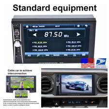 "12V 6.6""HD Touch Screen 2DIN Car Bluetooth USB FM Stereo Radio MP5 Player+Camera"