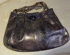 Rare Coach Hampton's Metallic Snakeskin Embossed Leather Handbag #15973 E U C