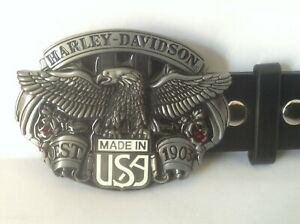 """Harley Davidson Buckle & Belt (All Sizes 30"""" – 50"""") Made In USA"""