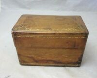 Vintage leather lined box for 2 decks playing cards