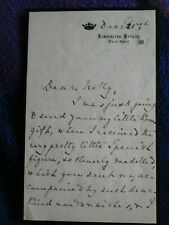 Princess Beatrice (Queen Victoria's - daughter) hand signed letter