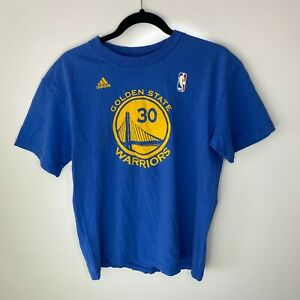 Adidas T-Shirt Men's Size S Blue Golden State Warriors #30 Stephen Curry