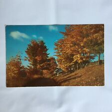 Old Farm House Shadows in the Fall Unposted Postcard