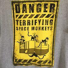 Firefly Danger Terrifying Space Monkeys Delta Soft Grey T-shirt 2XL