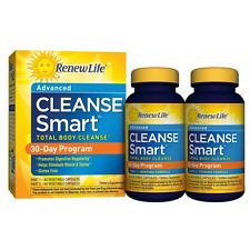 Renew Life Cleanse SMART 30 Day, Body, Kidney, Liver, Lungs, System Colon Detox