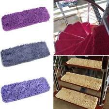 Fluffy Stair Treads Carpet Rug Non-slip Stair Mat Matt Step Indoor Washable New