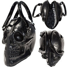 KREEPSVILLE 666 BLACK LATEX SKULL HANDBAG BAG TATTOO GOTH PSYCHOBILLY BIKER PUNK