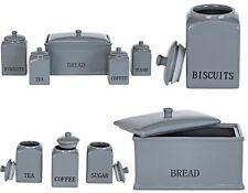 5Pcs Tea Sugar Coffee Biscuits Bread Bin Ceramic Storage Canisters & Jars Set