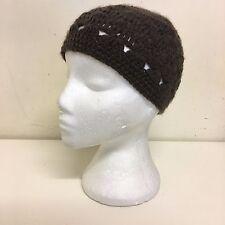 ASOS Ladies Brown Crochet Knit Winter Autumn Spring Warm Fitted Beanie Cap Hat