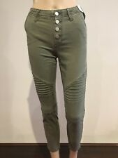 Abercrombie & Fitch Women's Military Skinny Ankle Jeans Pants 24 inch Olive NWT