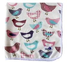 Minky Chic Pink Birds Change Mat, Soft Reusable Cloth Waterproof Multi-Function
