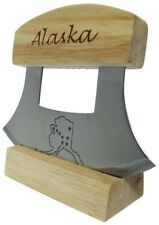 Alaskan Ulu Knife with etched Handle and Blade
