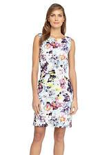 Tahari ASL Wear to Work Floral Print Scuba Sheath Dress Size 16