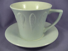 Anwyl Cooper-Willis Portmeirion Seasons Collection Cup & Saucer Gray Leaves Leaf