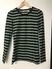 COUNTRY ROAD long sleeve striped top tunic blouse navy green XS 6-10 flattering
