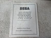 CLUTCH HITTER SEGA    arcade game manual