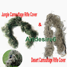 Combo Woodland/Desert Camo Rifle Gun Rag Ghillie Cover Wrap Sniper Paintball