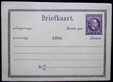 N-I Briefkaart Geuzendam 1b Willem III 1874 Javaanse tekst kopstaand CW 10,-