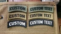 Custom Rocker Tab w Hook Back Fabric Multicam Military Style OCP Woodland BDU