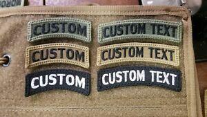 Custom Rocker Tab w Hook Back Fabric Multicam Military Style OCP Woodland BDU