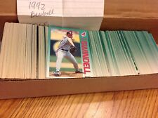 HUGE LOT OF 365 BASEBALL 1992 COLLECTIBLE TRADING CARDS, FLEER
