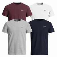 Mens T Shirt JACK & JONES New Light Crew Neck Short Sleeve Plain Tee