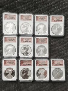 2012-S  -NGC 70 FIRST,EARLY & REGULAR  -11 coins set
