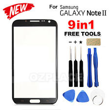 Premium Black Samsung Galaxy Note 2 Outer Glass Screen Lens Replacement