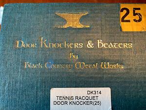 Tennis Racquet Door Knocker, New W/ Original Packaging, By Black Country Metal W