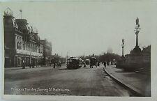 RARE MELBOURNE , PRINCESS THEATRE, VICTORIA EARLY 1900'S REAL PHOTO POSTCARD.