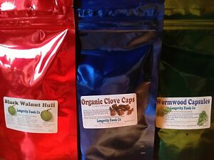 Dr Hulda Clark  Natural Parasite Cleanse Capsule version  FREE E-pack