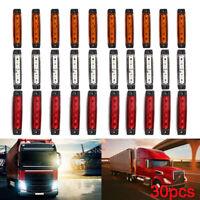 30 pcs White Red Orange 12V LED Side Front Marker Lights POSITION TRUCK LAMPS