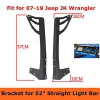 """Fit 52"""" Inch LED Work Light Bar Uper Mounting Bracket 07-19 for Jeep Wrangler JK"""