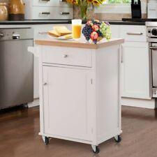 Kitchen Island Butchers Block Table Storage Cabinet Trolley Cupboard Cart Unit