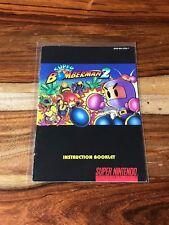 Bomberman 2 Manual ONLY Super Nintendo SNES VERY GOOD