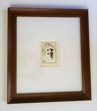 LEONARD BASKIN Original PENCIL SIGNED WOODCUT on Sekishu Paper MUSEUM FRAMED