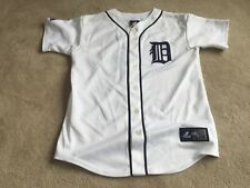 Detroit Tigers: #28 FIELDER: HOME Baseball Jersey Majestic: YOUTH LARGE
