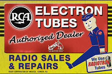RCA Victor Radio Dealer Sign Nipper Dog Camden NJ Radiotron ElectronTubes