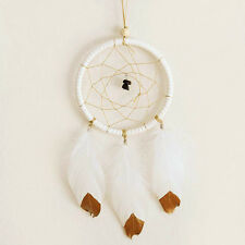Handmade Retro Dream Catcher With Feathers Wall Hanging Car Decor Ornament DIY