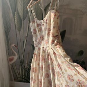 Vintage Laura Ashley summer dress. Small. Gorgeous floral pattern and huge skirt