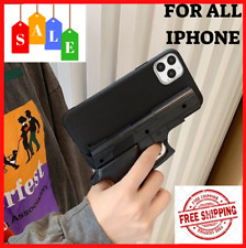 Case For IPhone 11 Pro Max XS XR X 8 7 6 6S Toy Pistol Gun Silicone Phone Cover