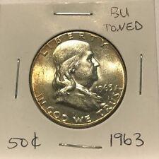 1963 Silver Franklin Half Dollar Uncirculated BU