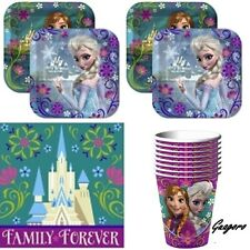 Frozen Party Supplies Pack Includ Plates, Cups & Napkins for 16 Guest Decoration