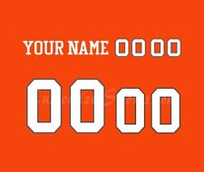 BC Lions Football Number kit for Orange Jersey-no stitching