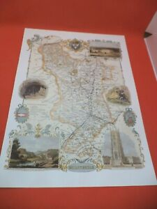 derby DERBYSHIRE new art print repro ANTIQUE COUNTY MAP thomas moule 1800s