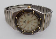 "AUTHENTIC TWO TONE OMEGA SEAMASTER WATCH 7"" LONG 100522-2  (JRO)"
