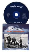 Cd PROMO MATIA BAZAR Sotto il cielo del destino - cds singolo single 1997